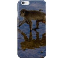 Monkey reflecting time  iPhone Case/Skin