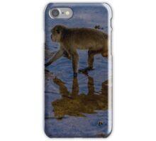 Monkey reflecting time  iPhone Case/Skin