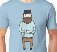 Gentleman with a cup of tea Unisex T-Shirt