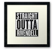 Straight Outta Rivendell Framed Print