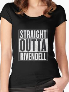 Straight Outta Rivendell Women's Fitted Scoop T-Shirt