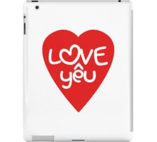 Vietnamese Valentine ♥ Love Yêu ♥ Romantic Asian Wordplay iPad Case/Skin
