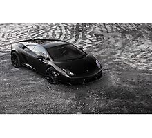 Matte Black Lamborghini Gallardo Photographic Print