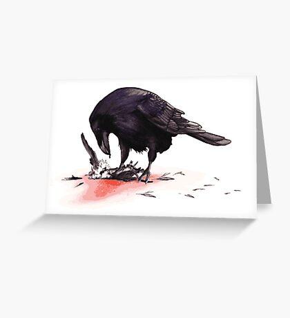 Crow, Bloody Snow 2 Greeting Card