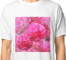 Painterly Pink Zinnia Watercolor Classic T-Shirt