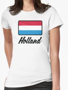 National flag of Holland Womens Fitted T-Shirt