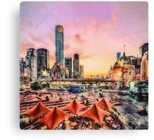 Fed Square Sunset II (GO) Canvas Print