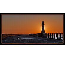 roker pier, sunderland, uk Photographic Print