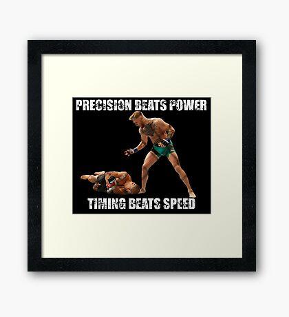 Conor McGregor Knocks Out Jose Aldo Framed Print