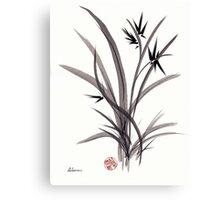 TRUST IN JOY - Original Sumie Ink Wash Zen Bamboo Painting Canvas Print