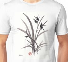 TRUST IN JOY - Original Sumie Ink Wash Zen Bamboo Painting Unisex T-Shirt