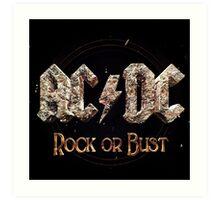 AC / DC TOUR 2016 ROCK OR BUST Art Print