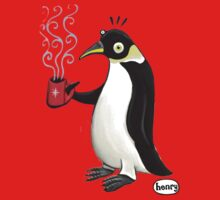Penguin with hot coffee Baby Tee