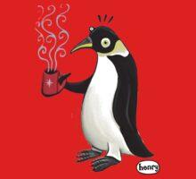 Penguin with hot coffee Kids Tee