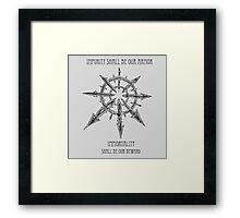 Warhammer 40k star of chaos Framed Print