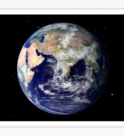 Full Earth showing Europe and Asia Sticker