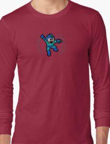 Mega Man - Sprite Badge Long Sleeve T-Shirt
