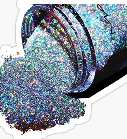 Glitter Spill Sticker