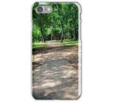 Looking into a shaded forest. iPhone Case/Skin