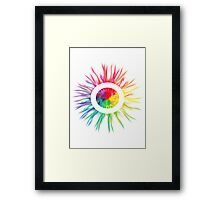 Psychedelic Sun Framed Print
