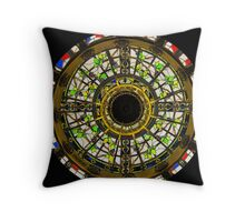Stained Glass Skylight Throw Pillow