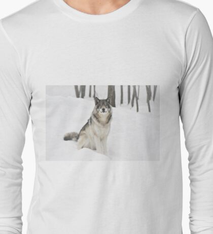I Am Wolf - Timber  Wolf Long Sleeve T-Shirt