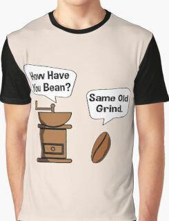 Coffee Bean Grinder Graphic T-Shirt