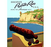Vintage Discover Puerto Rico WPA Photographic Print