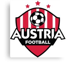 Football emblem of Austria Canvas Print