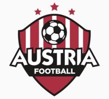 Football emblem of Austria by artpolitic