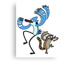 Mordekai and Rigby Regular Show Canvas Print