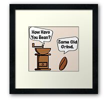 Coffee Bean Grinder Framed Print