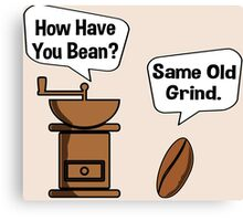 Coffee Bean Grinder Canvas Print