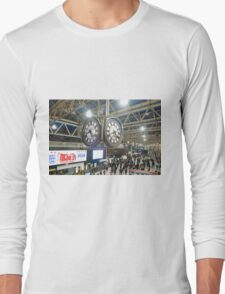 London Waterloo Station Clock Long Sleeve T-Shirt