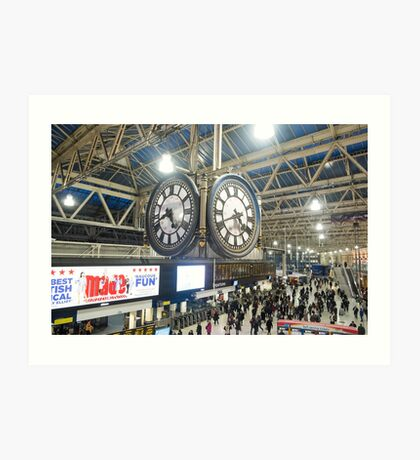 London Waterloo Station Clock Art Print