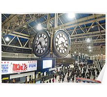 London Waterloo Station Clock Poster
