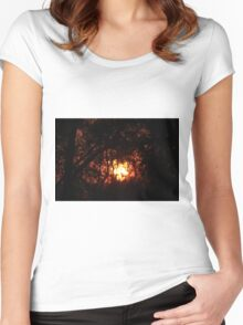 Fiery Sunset Through The Eucalypts Women's Fitted Scoop T-Shirt
