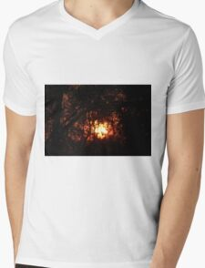 Fiery Sunset Through The Eucalypts Mens V-Neck T-Shirt