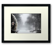 First Snowstorm Framed Print