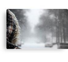 First Snowstorm Metal Print