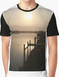 Sun Rising through Grampians Smoke Graphic T-Shirt