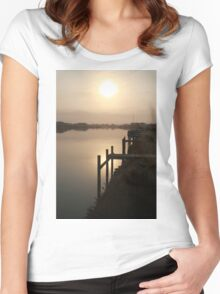 Sun Rising through Grampians Smoke Women's Fitted Scoop T-Shirt