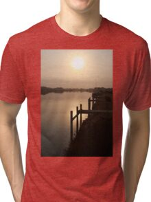 Sun Rising through Grampians Smoke Tri-blend T-Shirt