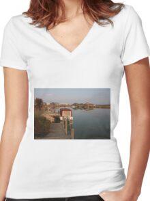 Morning Serenity Women's Fitted V-Neck T-Shirt
