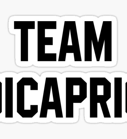 Team Dicaprio - Black Text Sticker