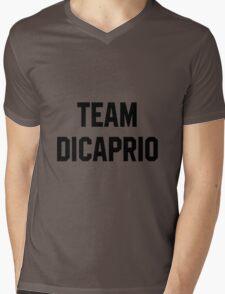 Team Dicaprio - Black Text Mens V-Neck T-Shirt