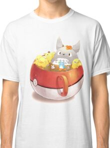 Totoro Neighbor Bath in a Pokeball Cup Classic T-Shirt