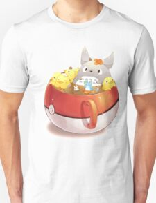 Totoro Neighbor Bath in a Pokeball Cup Unisex T-Shirt