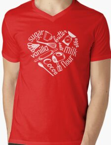 I Love Baking Mens V-Neck T-Shirt
