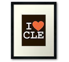 I HEART CLE - CLEVELAND - Alternate Framed Print